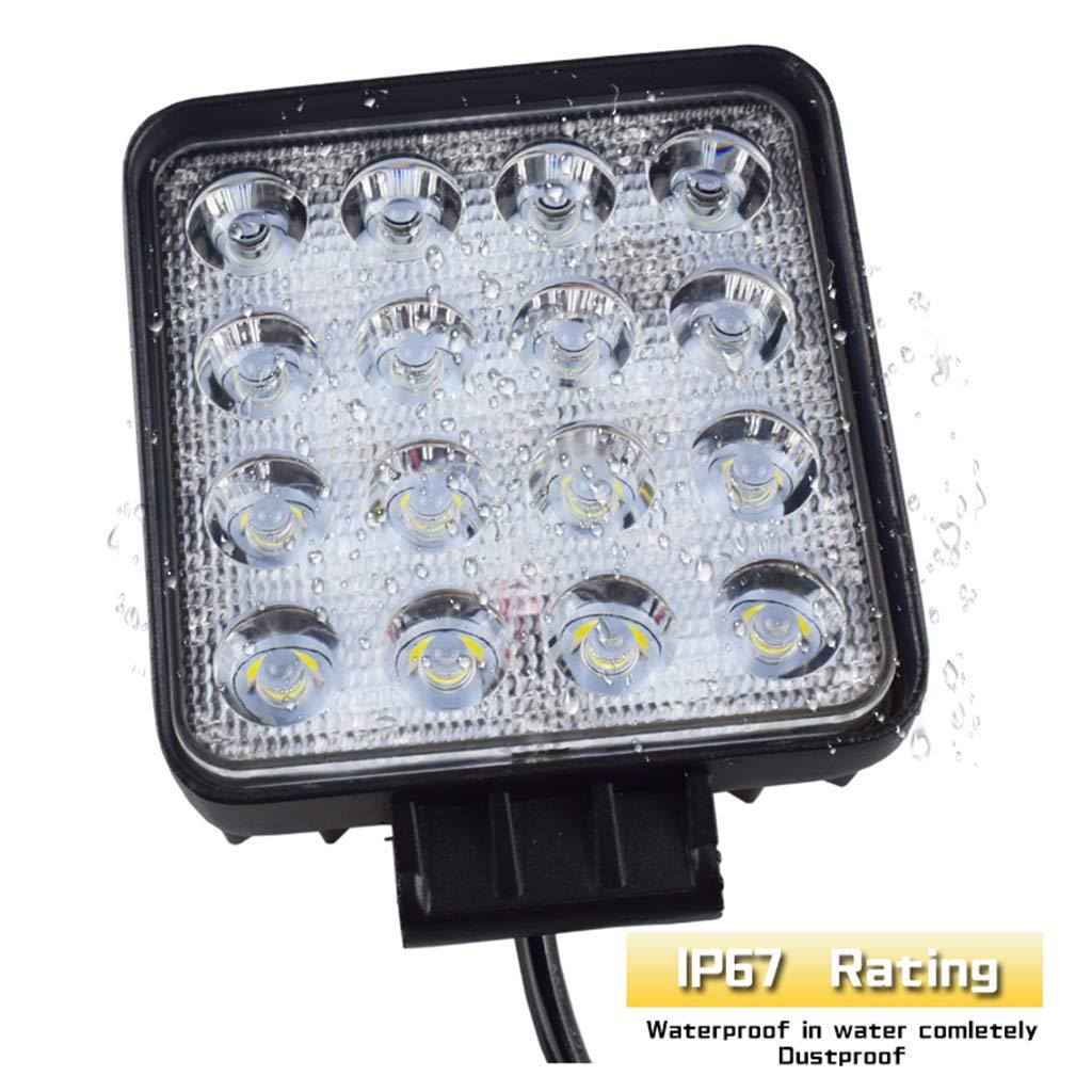 Fari per veicoli da 48 W barra da 10,2 cm luce da lavoro a LED per SUV luce bianca fredda 16 LED