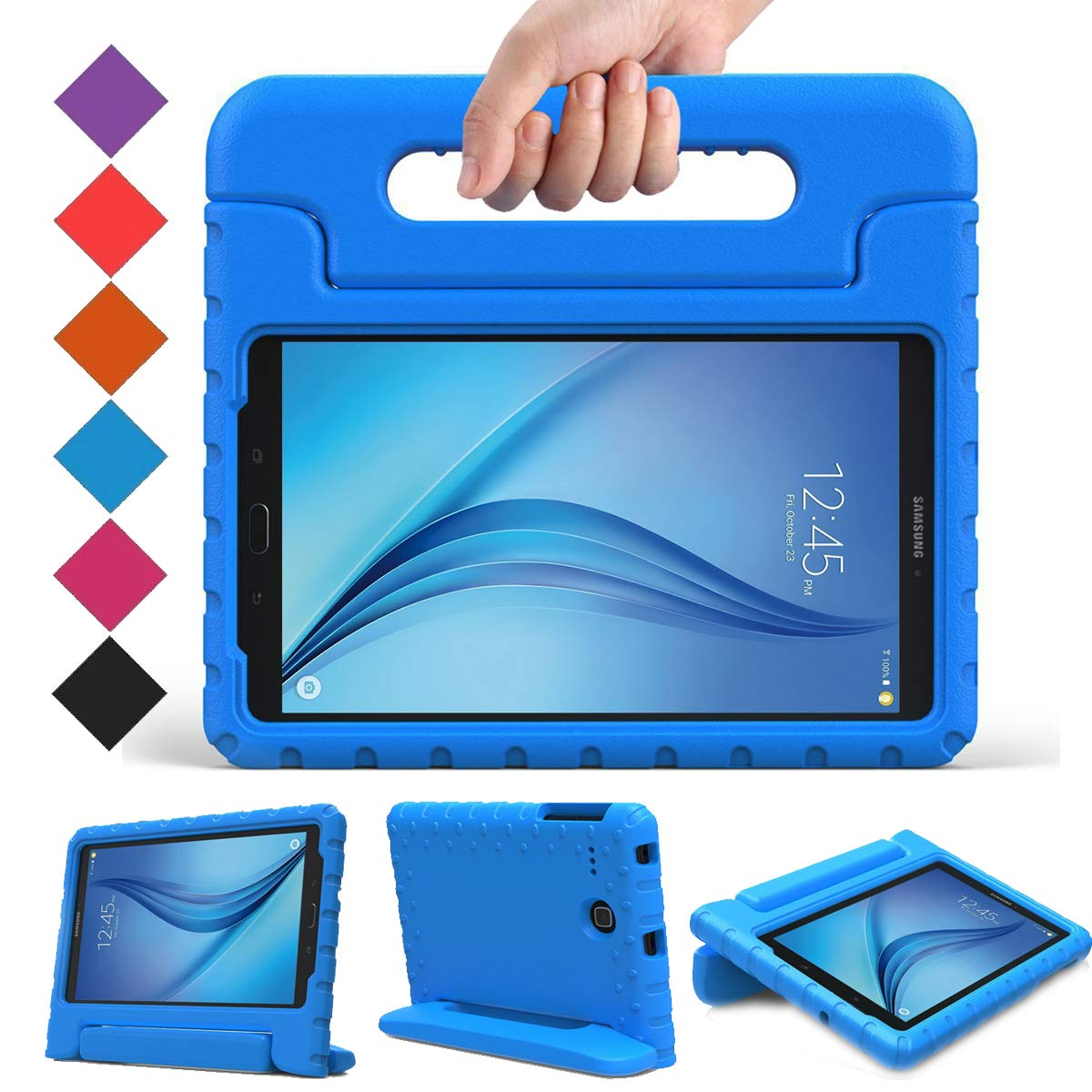 BMOUO Kids Case for Samsung Galaxy Tab E 8.0 inch - EVA Shockproof Case Light Weight Kids Case Super Protection Cover Handle Stand Case for Kids ...
