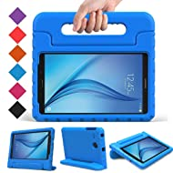 BMOUO Kids Case for Samsung Galaxy Tab E 8.0 inch - EVA Shockproof Case Light Weight Kids Case Super Protection Cover Handle Stand Case for Kids Children for Samsung Galaxy TabE 8-inch Tablet - Blue