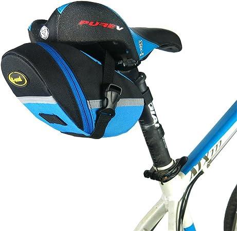 Bolsa de Ciclismo Bolso de bicicleta Bolso de sillín de bicicleta a prueba de lluvia MTB accesorios de bicicleta de carretera Bolso de sillín trasero Bolsa de bolsa trasera Duradera Moda: Amazon.es: