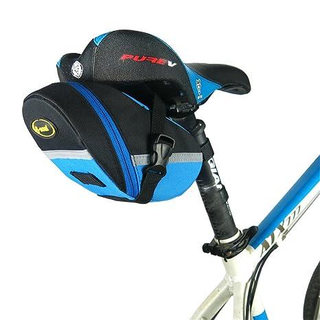 c578791939d5 Amazon.com : Techecho Bicycle Bag Bike Saddle Bag Rainproof MTB Road ...