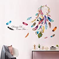 decalmile Dream Catcher Feathers Wall Decals Quotes Dreams Come True Wall Stickers Bedroom Living Room Wall Decor
