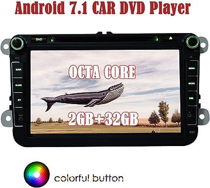 "For VW Volkswagen Double2 Din Car in Dash 8/""DVD Player GPS Radio Stereo Sat Nav"