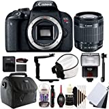 Canon EOS Rebel T7i 24.2MP Digital SLR Camera with 18-55mm EF-IS STM Lens and Accessories