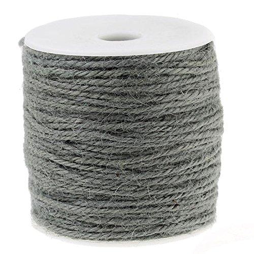 SiAura materiale®–100m iuta corda/Pull Grigio 1mm