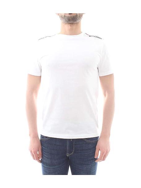 e98eb5956 Moschino Underwear Tape Logo T-Shirt in White: Amazon.co.uk: Clothing