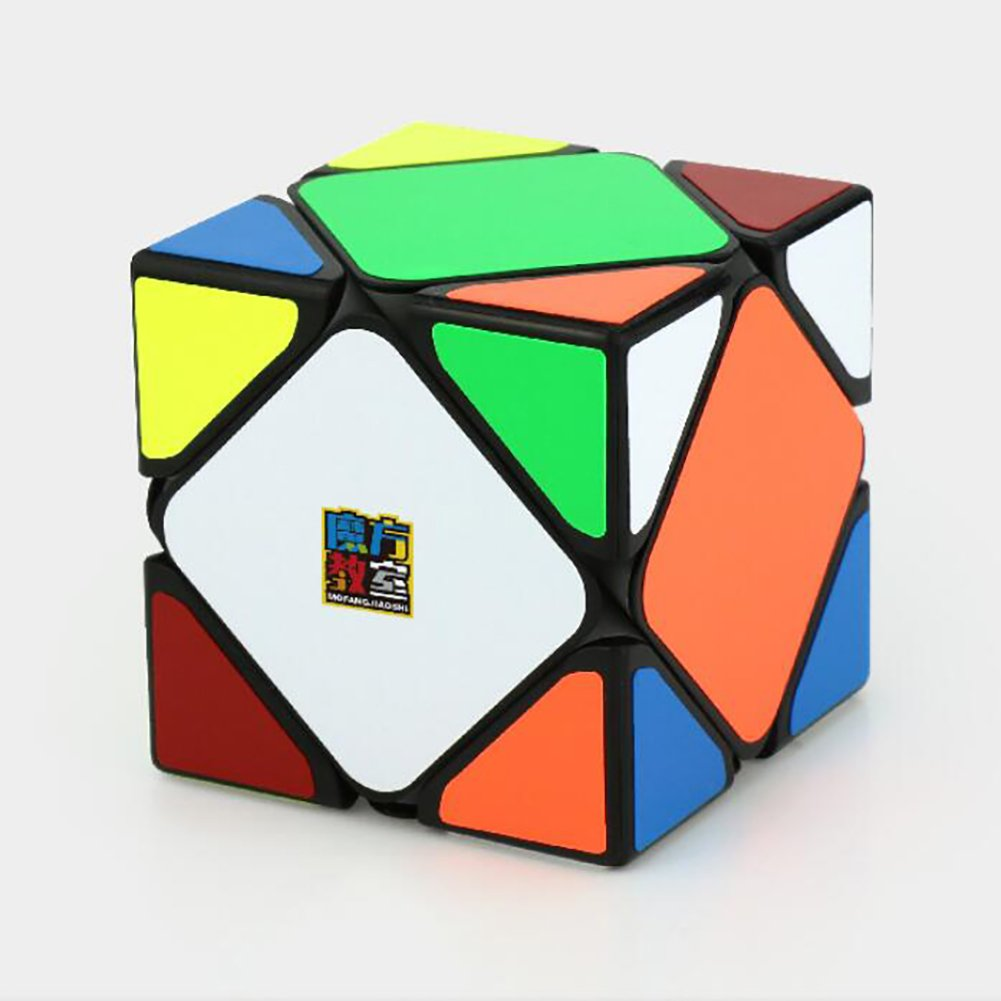 Aoile Magnetic Skewb Cube White Intelligence Toys for Beginner to Experienced Cubers