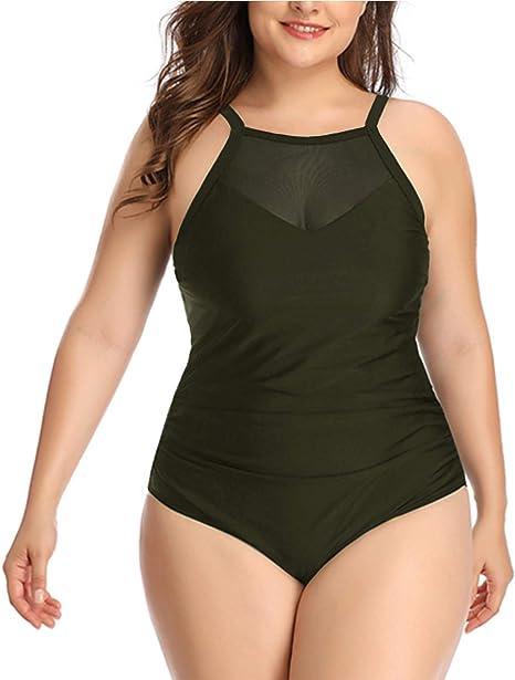 Amazon.com: BeachQueen traje de baño de una pieza para mujer ...