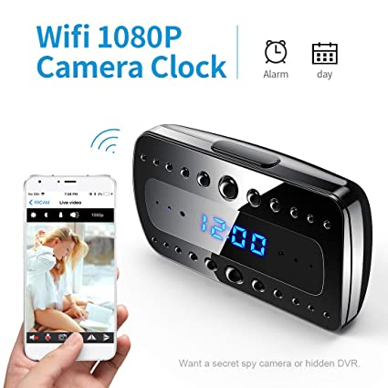 Fredi 1080P Wifi Cámara Espía orologio-sveglia HD cámara oculta Mini microcamere cámara de vigilancia cámara de seguridad inalámbrica ...