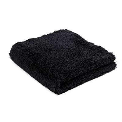 "SGCB 16"" x 16"" Edgeless Microfiber Towels for Cars, 450GSM Dual-Pile 8mm Ultra Thick Plush Car Drying Towel Premium Soft Lint & Scratch Free Super Absorbent Auto Detailing Towel Cloth, Black: Automotive"