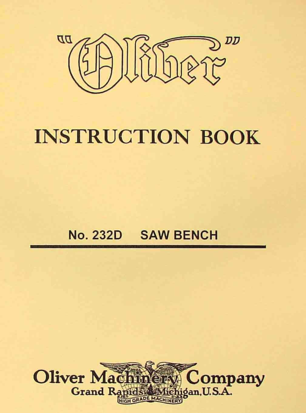 OLIVER 232-D 12