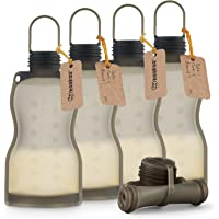 Haakaa Silicone Breast Milk Storage Bag, Reusable Breastmilk Bags for Breastfeeding, with Sealing Plug, Food-Grade…
