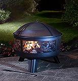 Outdoor Versailles Cirricular Log Burner Garden Heater Patio