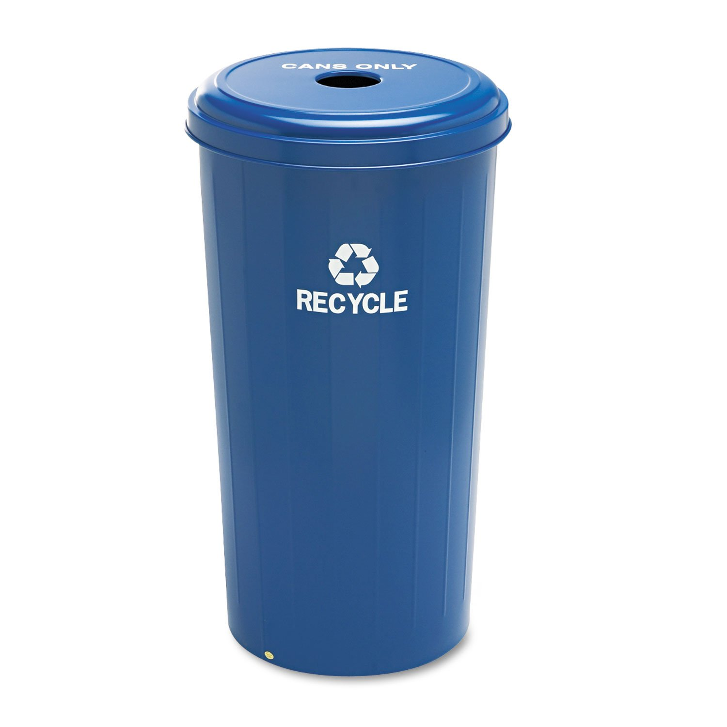 Safco 9632BU Tall Recycling Receptacle for Cans Round Steel 20gal Recycling Blue by Safco (Image #1)