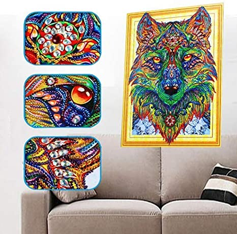 """Special shaped Diamond Painting/""""Animals/""""Diamond Embroidery 5D,DIY,wolf,tiger new"""