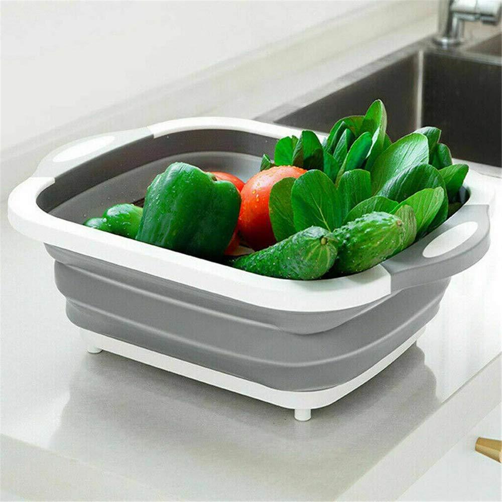 MARFUNY 4-en-1 Multi-Board Kitchen Chopping Blocks Tool Tabla de Corte Plegable Verduras de Frutas de Cocina