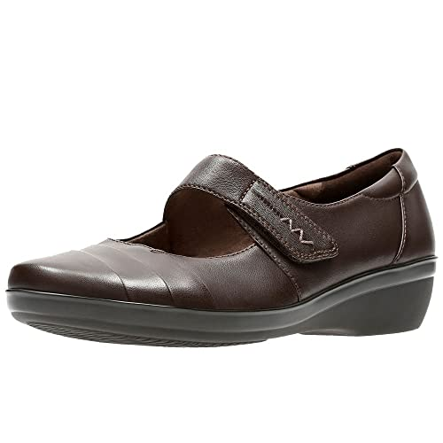 Clarks Everlay Kennon Womens Mary Jane Shoes 9 Brown: Amazon