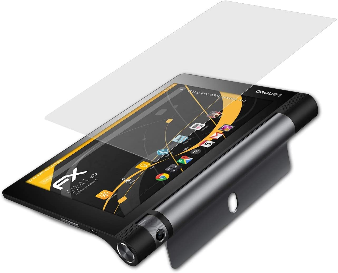 atFoliX Screen Protector Compatible with Lenovo Yoga Tab 3 8.0 Screen Protection Film, Anti-Reflective and Shock-Absorbing FX Protector Film (2X)