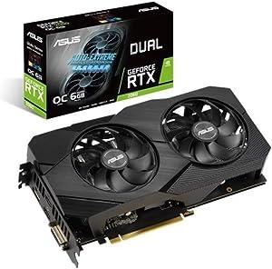 ASUS Dual GeForce RTX 2060 OC Edition EVO - Tarjeta gráfica de 6 GB GDDR6 con la Arquitectura gráfica NVIDIA Turing