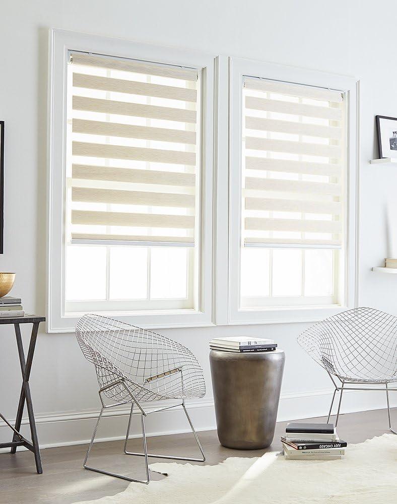 "Curtainworks Astor Window Shade, 29"" W x 64"" L, Linen"