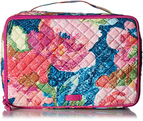 - Vera Bradley Iconic Large Blush & Brush Case, Signature Cotton, Superbloom