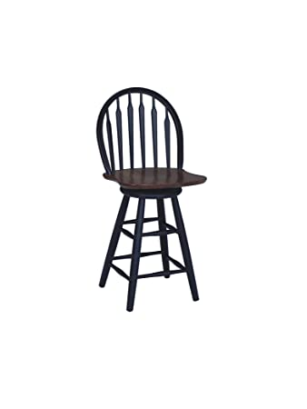 Groovy International Concepts S57 612 24 Inch Windsor Arrow Back Swivel Bar Stool Black Cherry Squirreltailoven Fun Painted Chair Ideas Images Squirreltailovenorg