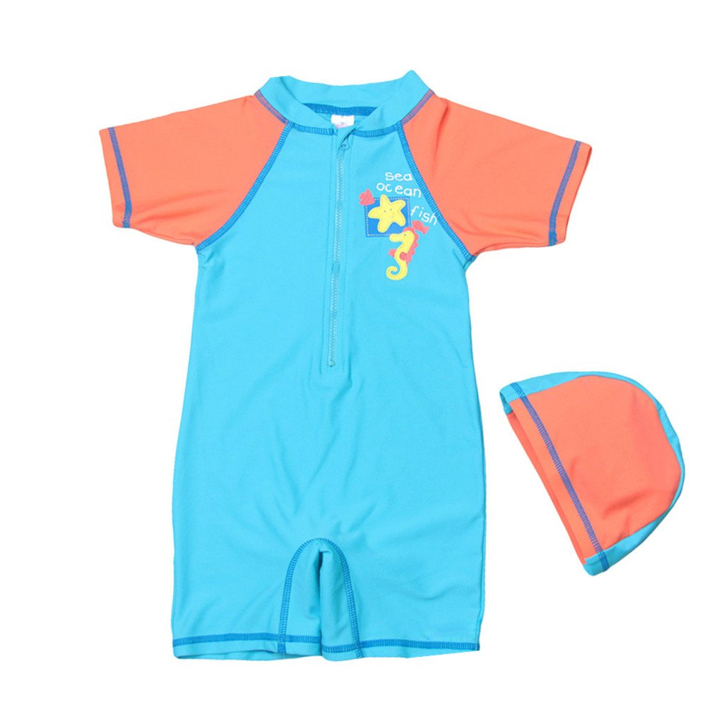 LOSORN ZPY Toddler Baby Boy One-Piece Swimsuit Kid Swimwear Sun Protective UPF 50+ LZ-TYY-34