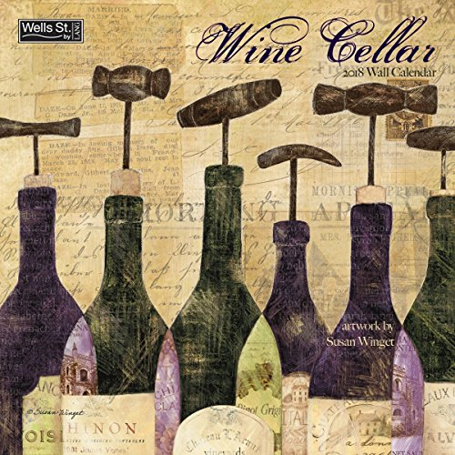 Wine Cellar 2018 Monthly Wall Calendar 12 x 12 Inches - Includes One Sheet of 240 Reminder Stickers