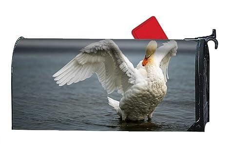 8a2349061091 Amazon.com  Verna Christopher Animal Mute Swan Bird Mailbox Cover ...