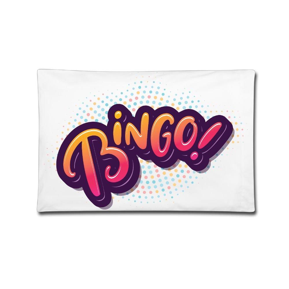 Pillow Case 20''X30'' Bingo Logo Double Printed 100% Cotton Standard Pillowcases Soft Cover For Home Decorative Sleeping