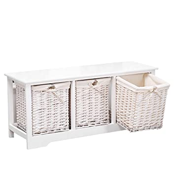 Mecor Bedside Cabinet White Chest Of Drawers Storage Unit Wooden