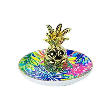 Amazoncom Lilly Pulitzer RingJewelry Holder Pineapple Travelers