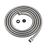 Purelux Shower Hose 118 Inches Flexible Stainless Steel Replacement Shower Hose with Brass Fittings, Polished Chrome