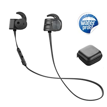 Auriculares inalámbricos Bluetooth con micrófono IPX5 a prueba de sudor en los oídos con conexión magnética