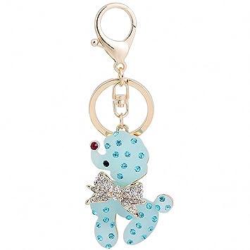 Womens llavero buscador de llaves Azul Rosa Blanco lindo ...