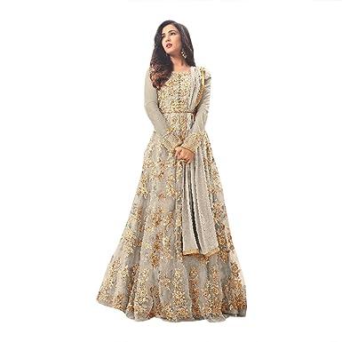pakistanische Designer Net Anarkali Salwar Anzug Frauen Kleid ...