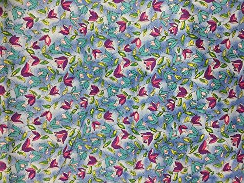 Kona Bay Kona Bay - Purple & Blue Tulip Floral - Art Soul for Kona Bay - Cotton Fabric