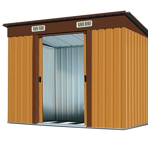 Caseta de almacenamiento de aluminio para jardín de Deuba, color a elegir: Amazon.es: Hogar