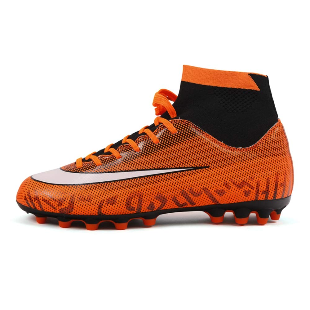 LYLZR Chaussure de Football pour Hommes, Chaussures de Football sur Terrain Dur, Chaussettes d'intérieur Chaussons d'entraîneur