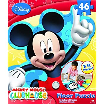 Amazon Com Mickey Club House Floor Puzzle 46 Piece Toys