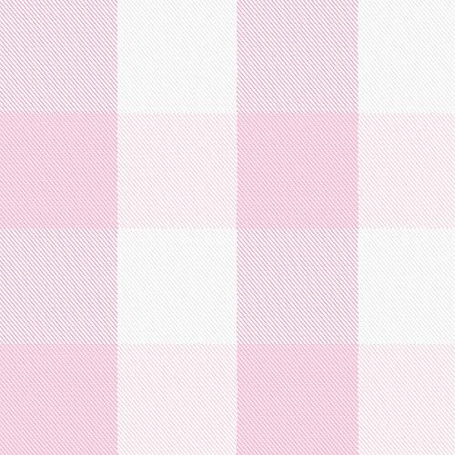Carousel Designs Pink and Bubblegum Buffalo Check Fabric by The Yard - Organic 100% Cotton
