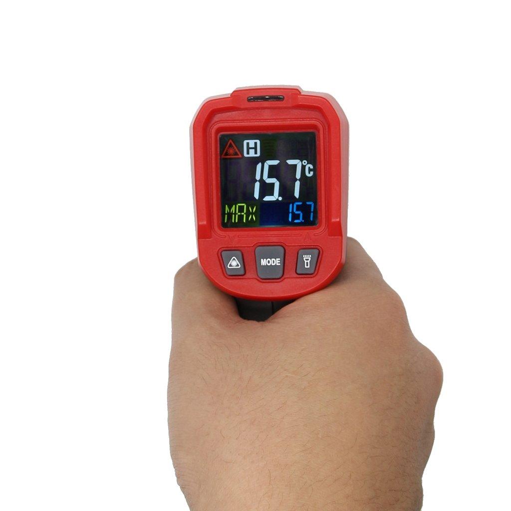 Homyl Regulateur Thermostat Numé rique Contrô leur de Temperature Sonde Scanner Multimè tre - Noir rouge ua6830a