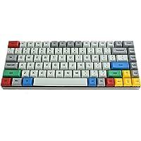 Vortexgear Race 3 75% Size TKL Programmable Mechanical Gaming Keyboard - Grey Alu Casing - PBT DSA Profile Dye Sub Keycaps - Cherry Mx Switches [CNC Aluminium Casing] RGBY Modifiers (Cherry Mx Brown)