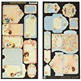 Graphic 45 Precious Memories Cardstock Die-Cuts 6-Inchx12-Inch Sheets 2/Package-Tags and Pockets