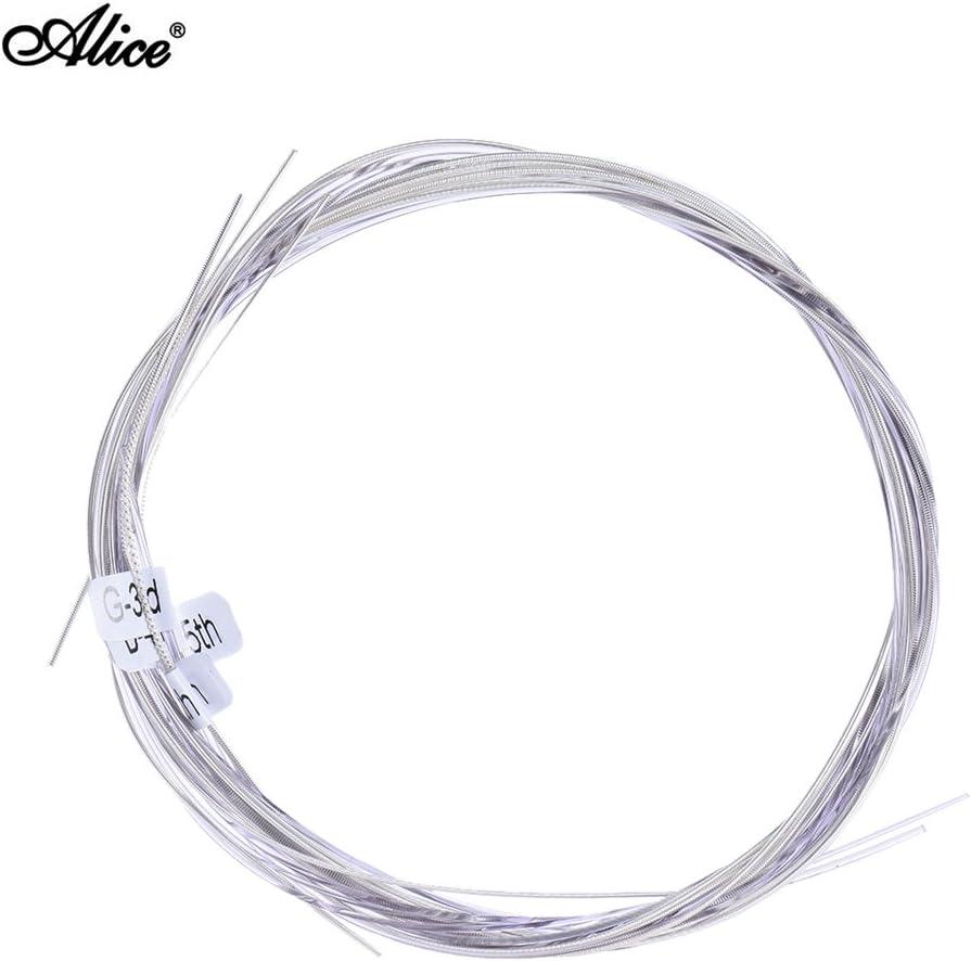 ammoon Alice AC139-H El Titanio de Alta Calidad Nylon Cuerdas para Guitarra Clásica 6 PC/Sistema (.028-.043) Tensión Normal