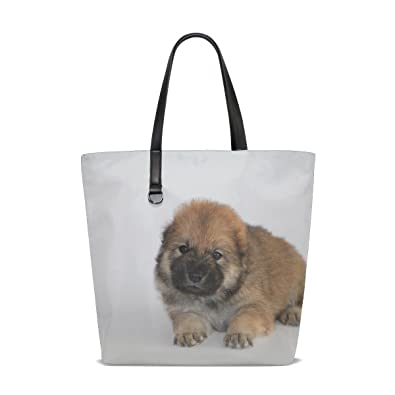 Amazon.com  Animal Dog Chow Chow Small Fluffy Puppy Adorable Animated Real  Tote Bag Purse Handbag For Women Girls  Shoes f9400e3116