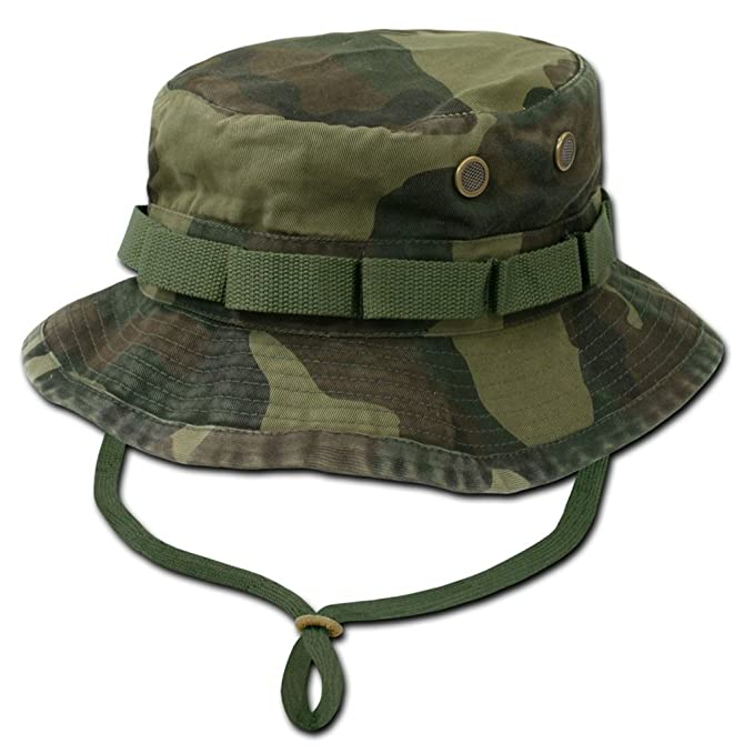 Image Unavailable. Image not available for. Color  Decky Military Style  Drawstring Jungle Boonie Bucket Hat ... 6ad2139a752