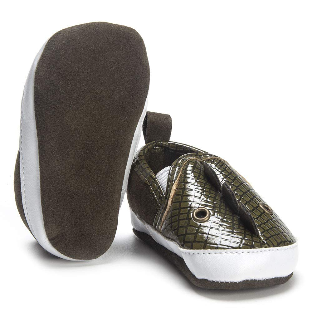 Voberry@ Baby Moccasions PU Leather Slip On Loafers Snake Fin Cartoon Infant First Walker Shoes