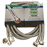 Eastman 41066 Ss Washing Machine Hose with 90-Degree Elbow, 3/4-Inch X 3/4-Inch, 1-Pair