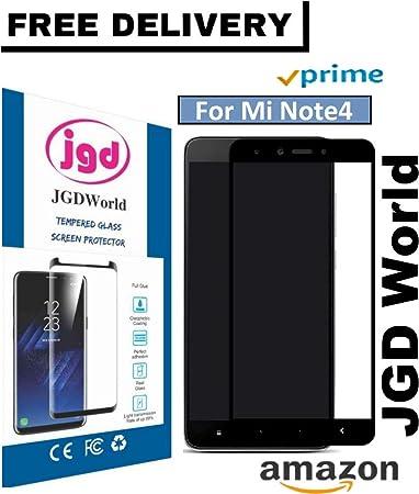 JGDWORLD Full Edge to Edge 5D Tempered Glass for Mi Redmi Note 4 Screen guards